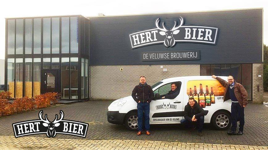 Hert Bier voor de brouwerij