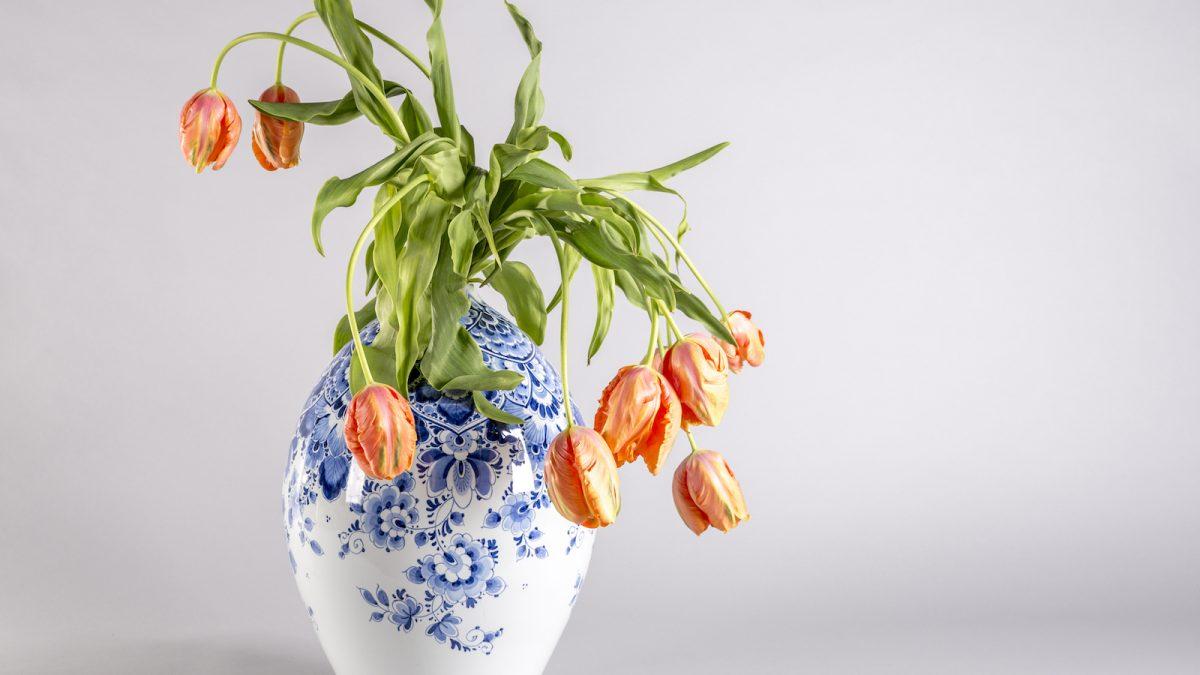 Vaas van Heinen Delfts Blauw